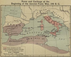 Carthage Rome Map