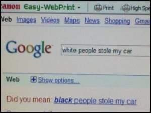 Google search result racially biased