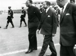Kwame Nkrumah and Emperor Haile Selassie two of the founders of the African Union