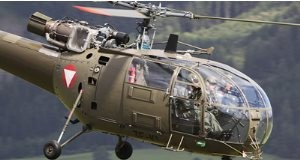 South African Alouette III helicopters.