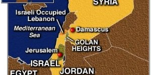 Golan Heights occupied by Israel