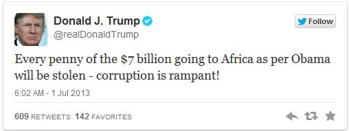 Donald Trump On Africa