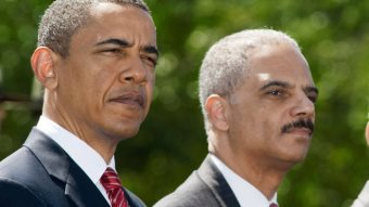 Holder And Obama Playing Black America