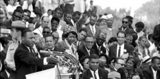 Martin Luther King delivers I Have a Dream speech at March on Washington