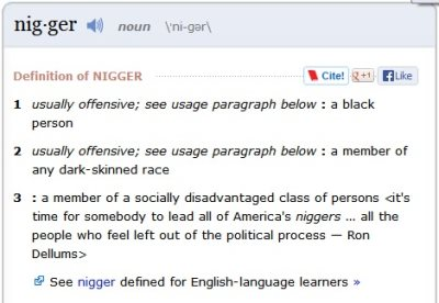A N*gg*r Is a Black Person, Says Webster Dictionary