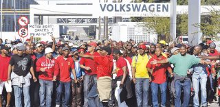 South Africa Striking Automotive Workers