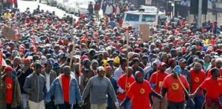 South African Workers Crippling Strikes