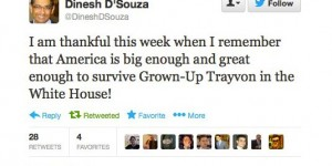 Conservative Dinesh D'Souza Thinks Trayvon Martin Is A Punchline
