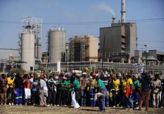 Striking Workers Northam Platinum Mine