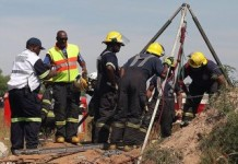 South African Miners Trapped