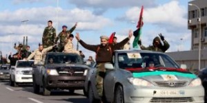 Libyan militias from towns throughout the country's west parade through Tripoli, Libya