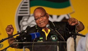 South Africa's unpopular president Jacob Zuma