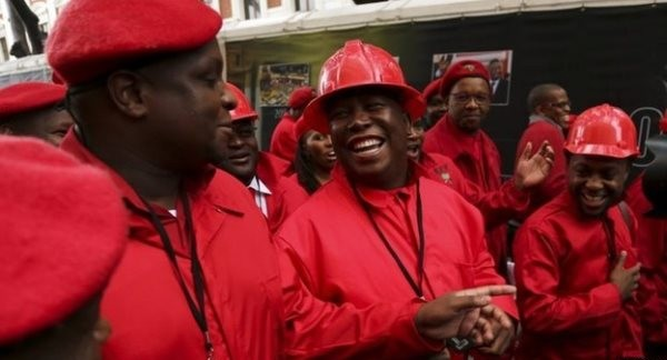 EFF MPs Enter Parliament Dressed As Maids And Miners