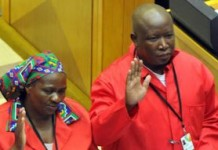 Julius Malema Kicked-Out Of South African Parliament