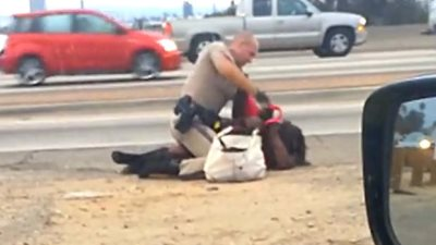 Woman Savagely Beaten By California Trooper Still Hospitalized