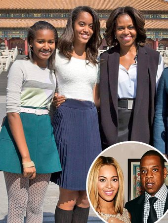 Bad Parenting: Michelle Obama & Daughters Attend Beyoncé & Jay Z Concert In Chicago
