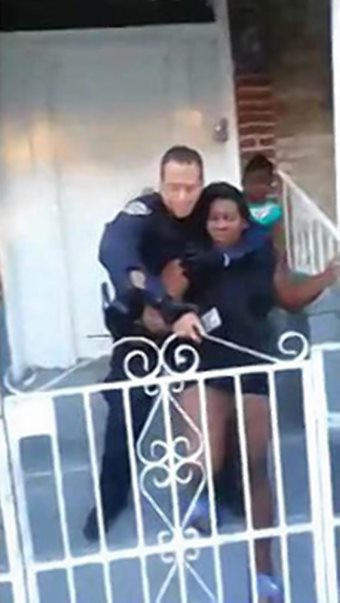 NYPD Now Strangling Pregnant Women Infront Of Their Children