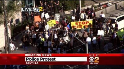 Hundreds Rally In L.A. To Protest LAPD Shooting Of Another Unarmed Black Man