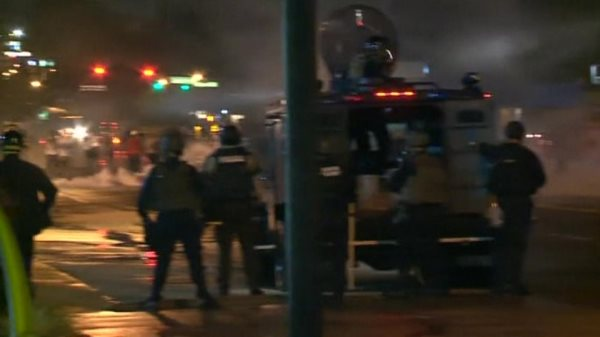 One Shot And Seven Arrested After Curfew Takes Effect In Ferguson