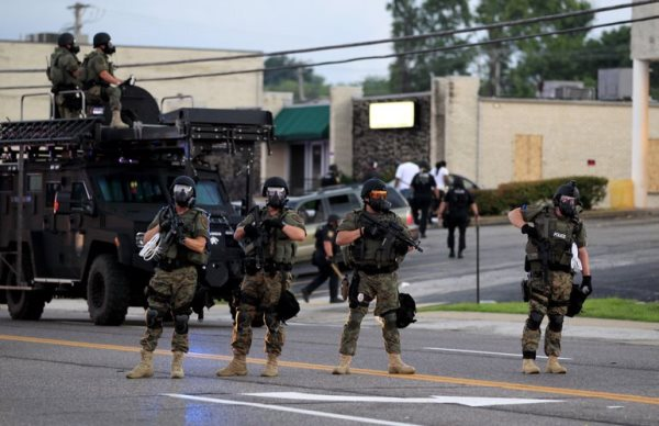 """""""We have a right to assemble, a right to freedom,"""" said Paul Muhammad. """"But here we are facing what looks like a military imposing martial law. It is not acceptable."""""""
