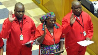 War On Democracy: Malema Kicked Out Of S.A. Parliament Again