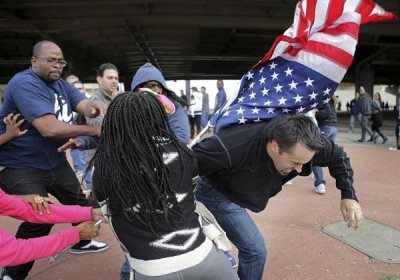 Ferguson Protesters And St. Louis Fans Brawl in Street After St. Louis Rams Game