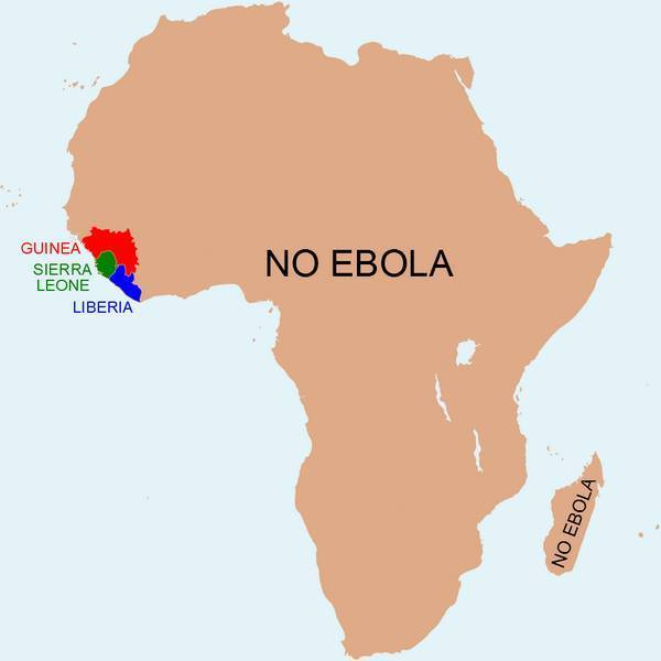 Map: The Parts Of Africa Without Ebola