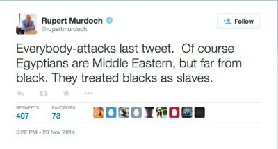 'Since When Are Egyptians Not White?': Rupert Murdoch Defends All-White 'Exodus'