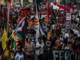Inspired By Ferguson Thousands Take To The Streets To Protest Police Violence Against Afro-Brazilians