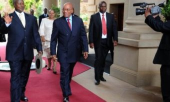 S. Africa's Zuma Arrives In Uganda For Regional Security Talks