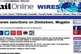 There Are Sanctions Against Zimbabwe Stupid