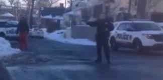 Video: Thug Cop Pulls Gun On Teens Having A Snowball Fight