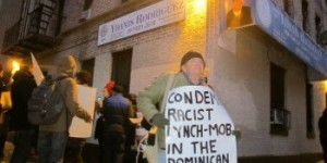We-Are-All-Dominican-rally-outside-City-Councilman-Ydanis-Rodriguez-Condemn-racist-lynch-mob-in-DR-NYC-021215