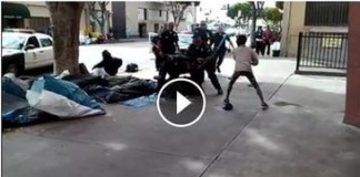 They Are At War: Homeless Black Man Executed By LAPD Officers