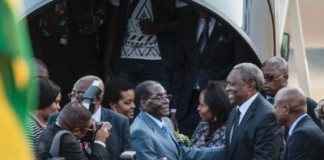Mugabe On Historic State Visit To South Africa
