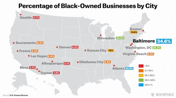 Baltimore Leads Comparable Cities In Black-Owned Businesses