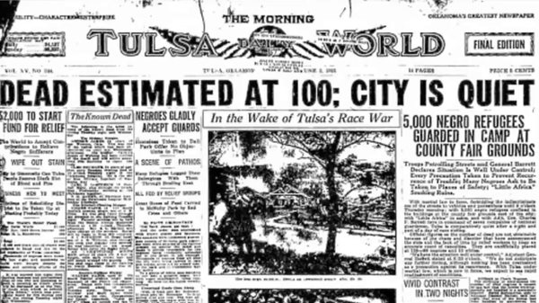 1921: Black Business District In Tulsa, Oklahoma, Attacked, Aerially Bombed, Victims Dumped In Mass Graves