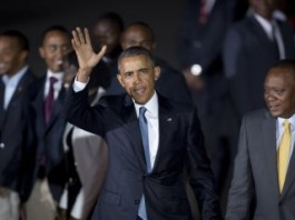 Obama Lands In Kenya To Euphoric Welcome