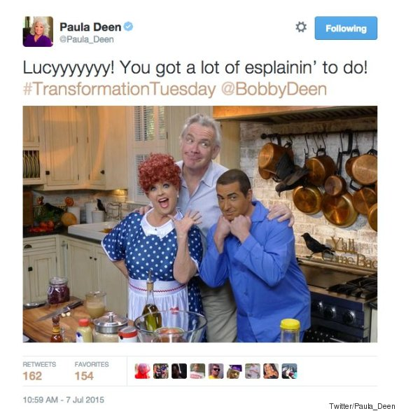Paula Deen Tweets Racist Photo With Son In 'Brownface,'