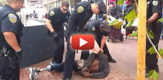 Video Catches 14 Cops Gang Up on Homeless Amputee 'Armed' with Crutches