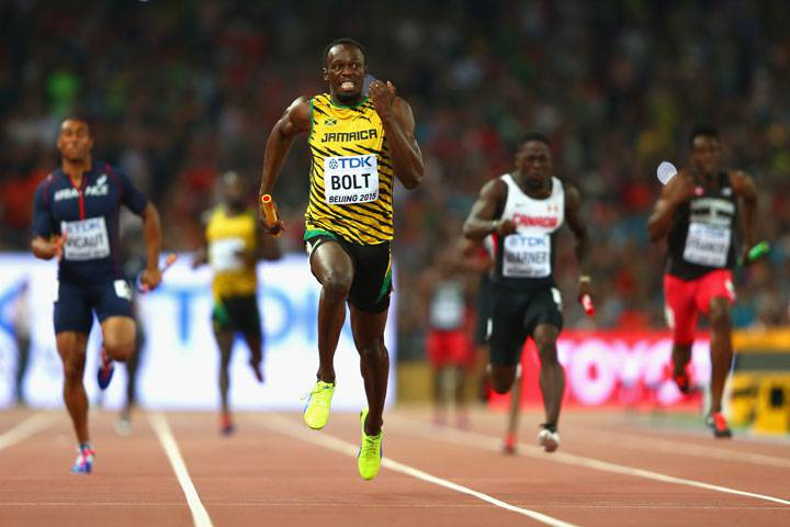 Bolt Secures Third World Sprint Sweep As Jamaica Wins Relay