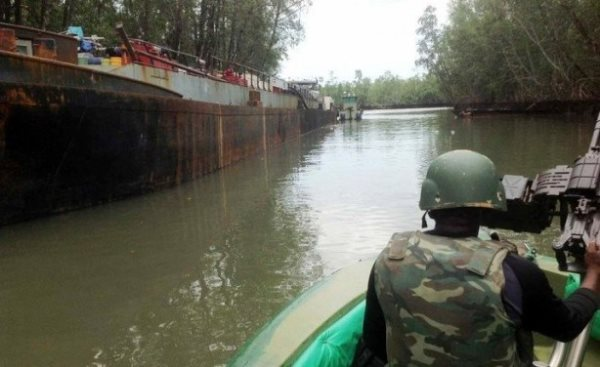 Nigerian Army Uncovers Massive Illegal Oil Bunkering Site