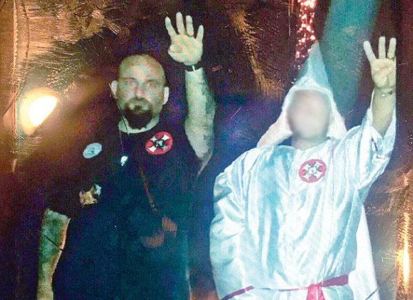 KKK Cop Fired After Nazi Salute Photo Surfaces