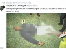 Savage: George Zimmerman Tweets Picture Of Trayvon Martin's Dead Body