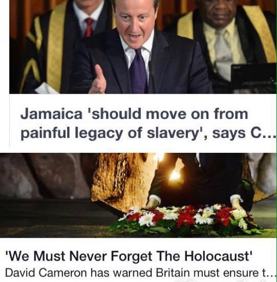 Reminiscent of a plantation master addressing his slaves, Cameron, whose own forefathers were slave owners, announced that Britain will not be paying reparations for their role in the trans-Atlantic holocaust (Maafa) or even making a formal apology for British crimes against African humanity. This is a frontal assault on all Africans, and a slap in the face for the Caribbean Community