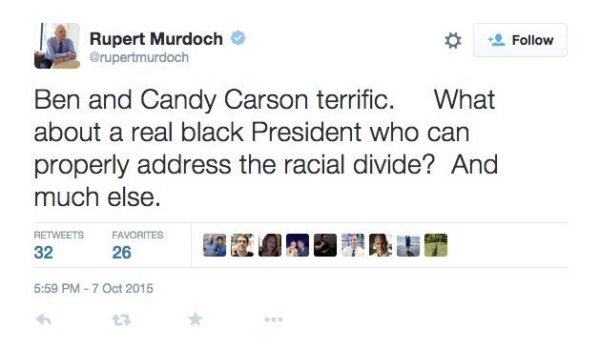 Rupert Murdoch Just Said WHAT About A Black President???