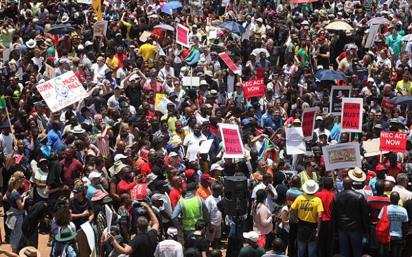 South Africans March Against President Jacob Zuma