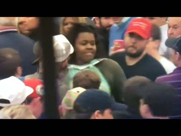 Frenzied Mob Of Trump Supporters Viciously Attacks Black Woman At Kentucky Rally