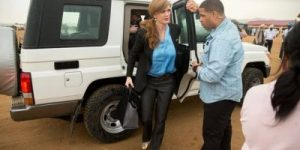 US Ambassador Samantha Power's Motorcade Kills Child In Cameroon Then Fled The Scene