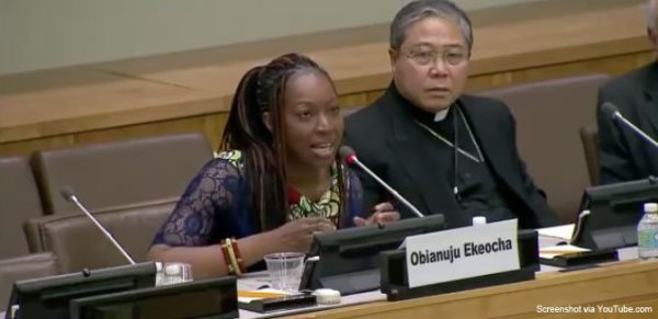 African Woman Schools UN Delegate On Why Pushing Abortion Is Neo-Colonialism